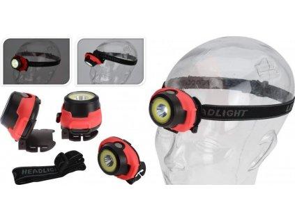 Čelová lampa HEADLIGHT - 3 úrovně Černá 4500350