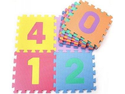 Dětská hrací podložka s čísly Sedco 30x30x1,2 cm - 10ks  0171F