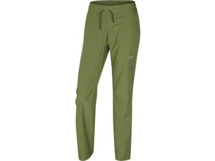 Dámské outdoorové kalhoty   Speedy Long L tm.zelená
