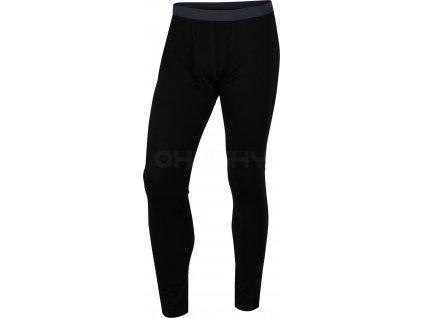 Merino termoprádlo  Kalhoty pánské černá