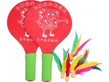 Battledore dřevěné pálky na badminton
