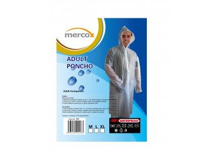 Mercox pláštěnka celo propínací dospělá