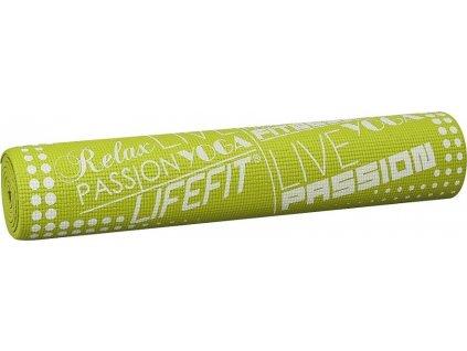 Gymnastická podložka LIFEFIT SLIMFIT PLUS, 173x58x0,6cm, světle zelená
