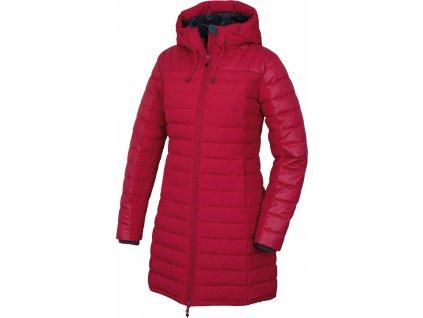 Dámský péřový kabátek   Daili L purpurová