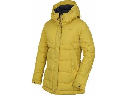 Dámský hardshell plněný kabátek   Nilit L žlutozelená