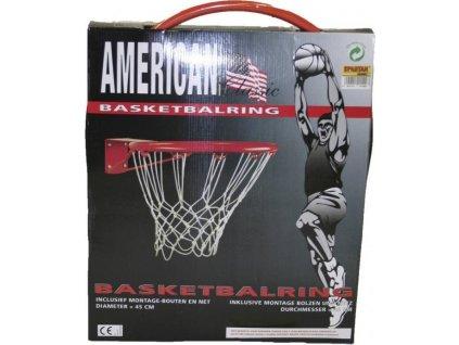 Koš na basket + síť FEDER červená 3014F