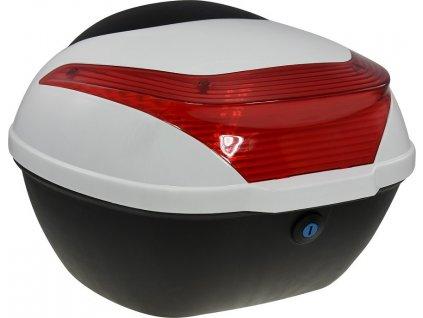 Zadní kufr k elektrickému motocyklu RACCEWAY E-BABETA, bílý