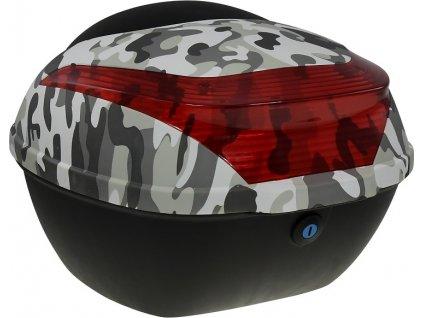 Zadní kufr k elektroskútru RACCEWAY E-BABETA, maskáč černý