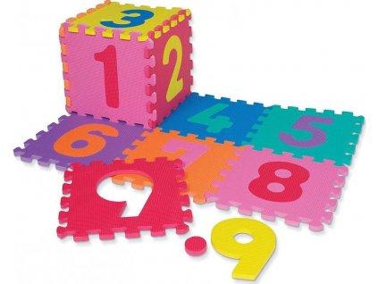 Dětská hrací podložka s čísly Sedco 30x30x1,2 cm - 12ks  0171W