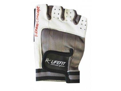 Fitnes rukavice LIFEFIT PRO, bílé