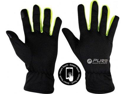Běžecké rukavice Purre2Improve S/M žlutá  320050