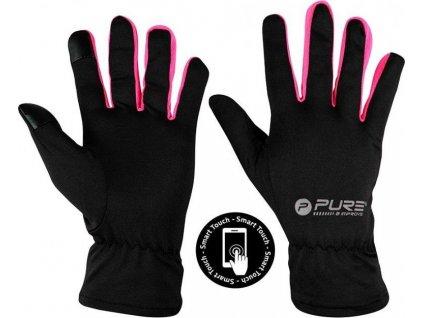 Běžecké rukavice Purre2Improve S/M růžová  320040