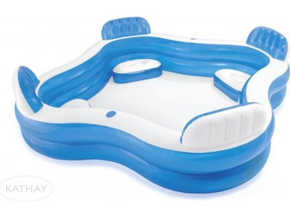 Bazén INTEX 56475 nafukovací - s opěrkami 229x229x66 cm Modrá 56475