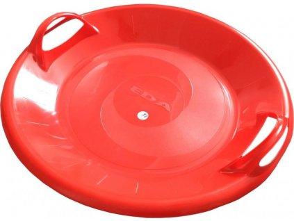 Sáňkovací talíř disk SUPER STAR- červená Červená 1403 CE