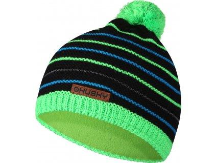 Dětská čepice   Cap 34 černá/neon zelená