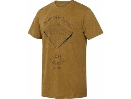 Pánské triko   Tingl M khaki