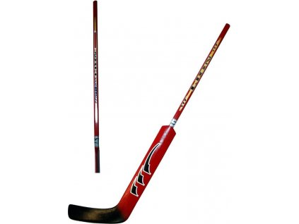 Hokejová hůl brankářská LION rovná barva červená délka 100 cm rovná HP7712-rovná