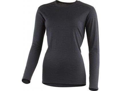 Lasting dámské merino triko ELENA černé
