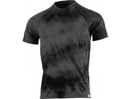 Lasting pánské merino triko BOKOS černá batika