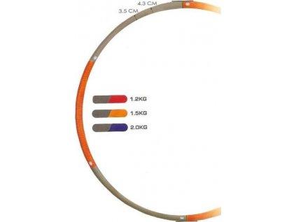 Kruh hula hop ring WAVE 1,2 kg modro-růžový 25001
