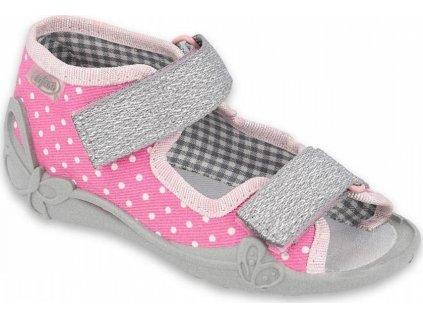 342P024 18 - dívčí sandálky Befado, kožená stélka