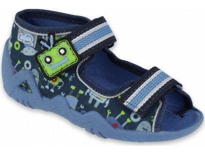 250P097 18 - chlapecké sandálky Befado 2SZ modré