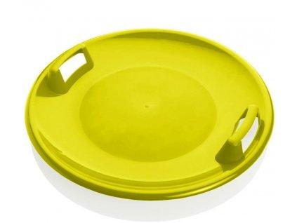 Sáňkovací talíř disk SUPER STAR- červená Žlutá 1403ZL