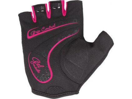 Betty cyklistické rukavice černá-růžová velikost oblečení M