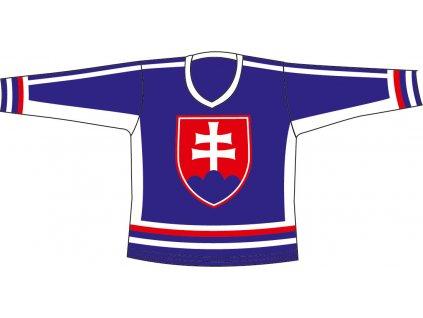 Hokej.dres SR 5 modrý M