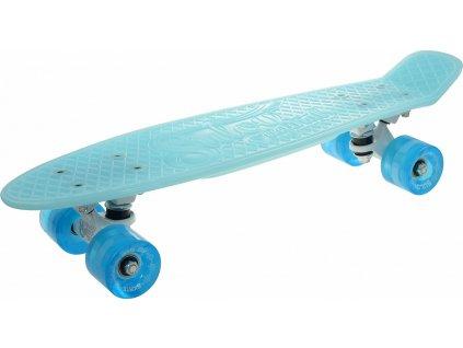 """Penny board 22"""" BURN RIDER modrý fosforeskující, blikající kolečka"""