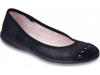 309Q015 36 - LENA, balerínka černá,tečky ve špici