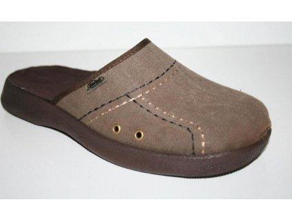 056M042 42 - pantofle ALEX ZŠ Befado, hnědá