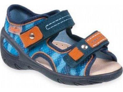 065P114 21 - SUNNY - chl.sandálky, modrý maskáč