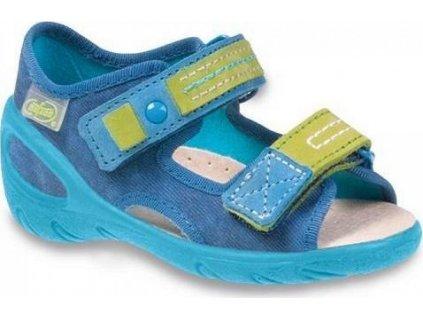 065P115 20 - SUNNY - chl.sandálky, modrá batika
