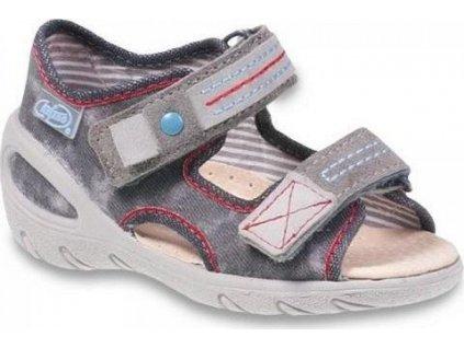 065P116 21 - SUNNY - chl.sandálky, šedá batika