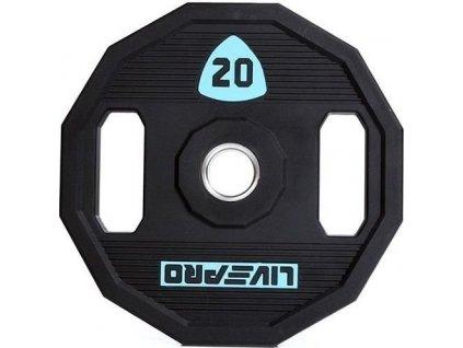 Kotouč činky LivePro Urethane LP8023 50 mm 20 kg LP8023-20