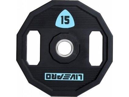 Kotouč činky LivePro Urethane LP8023 50 mm 15 kg LP8023-15