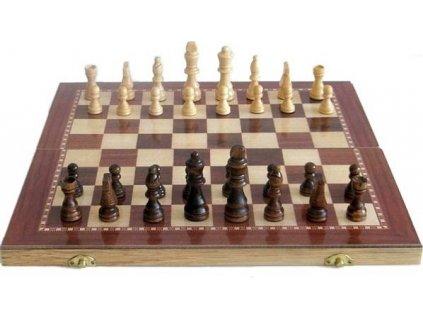 Šachy Sedco dřevěné 96 C02 černo/bílé 29x29 cm  0285