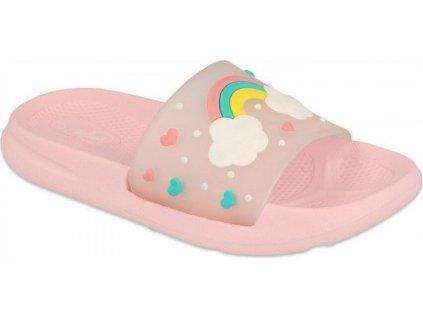152Y004 28 - dětské pantofle Befado SPACE růžové