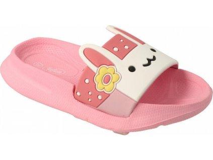 152X001 26 - dětské pantofle Befado ANIMALS růžové