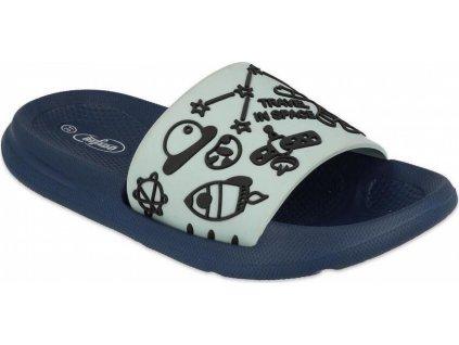 152Y009 31 - dětské pantofle Befado SPACE modré