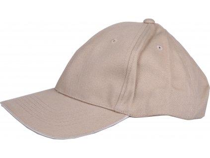 CP-1 čepice s kšiltem béžová