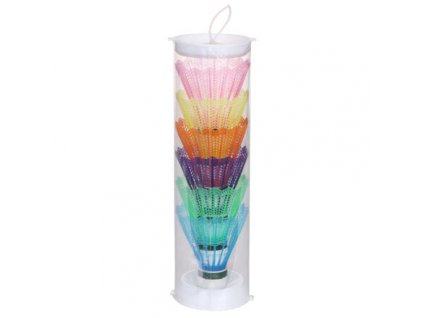 Color 6 badmintonové míčky balení tuba 6 ks