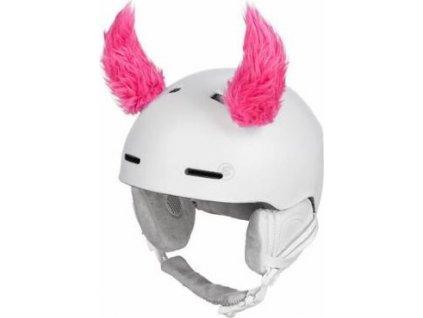 Funny Kit dekorace na přilbu fluo růžová