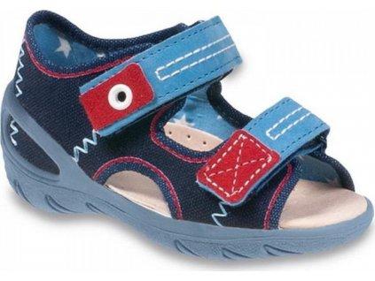 065P112 20 - SUNNY chl.sandálky, modrá
