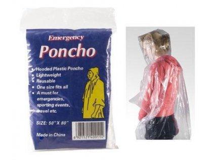 Mercox pláštěnka Poncho PE transparent univerzální velikost