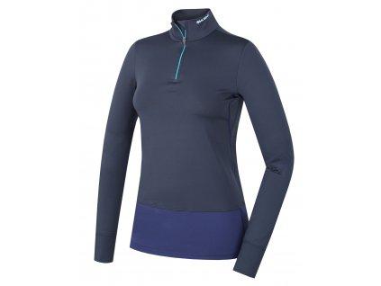 Dámské termo triko - podzim, zima  Active winter long zip modrá