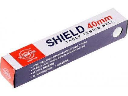 míčky na stolní tenis Shield sada 6 ks