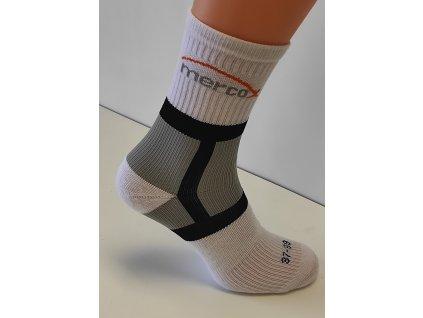 Mercox Tenisové ponožky white/grey