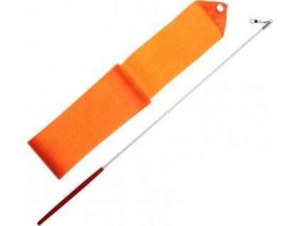 Gymnastická stuha + tyčka - oranžová Oranžová 3406OR